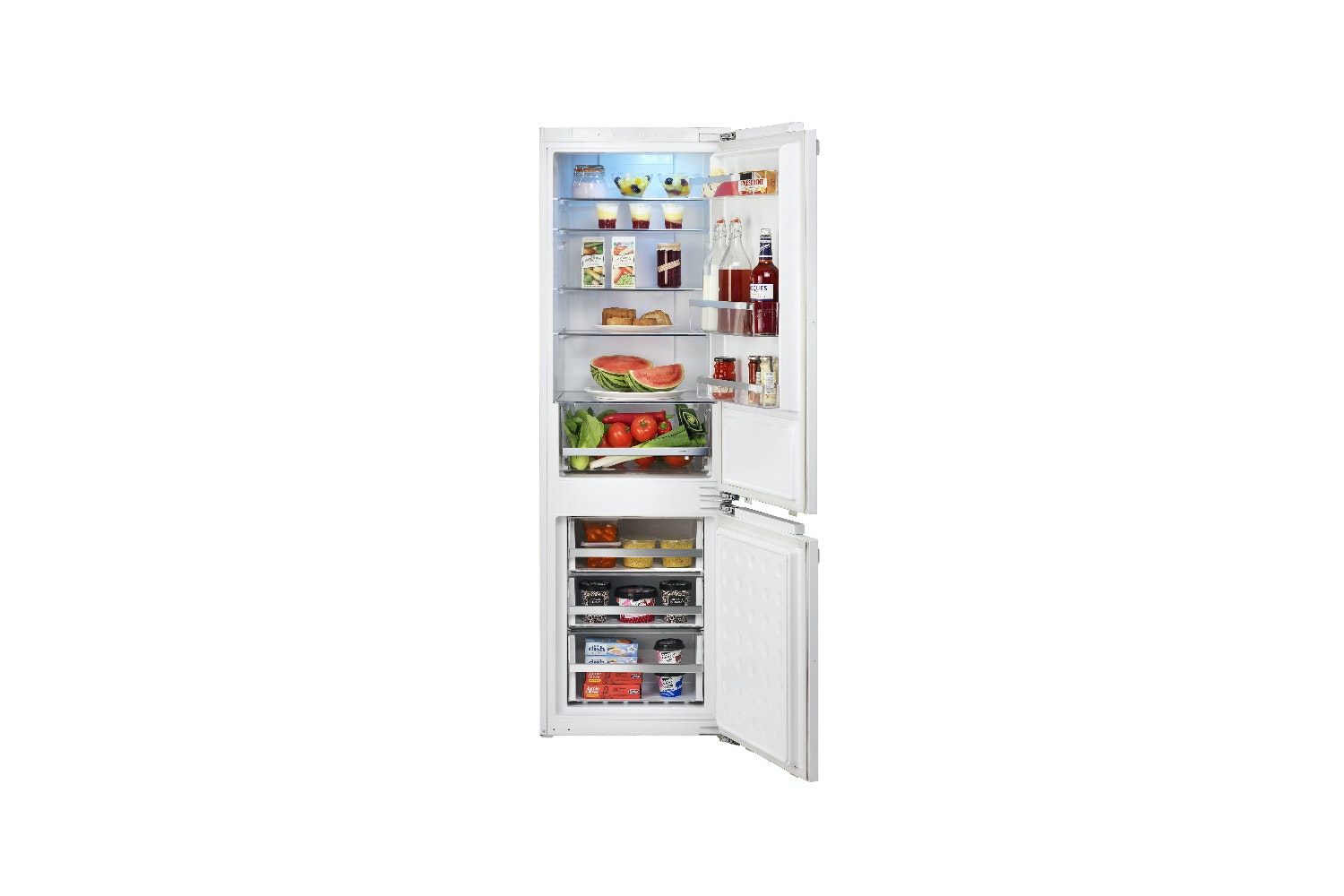 rangemaster built in fridge freezer 70:30