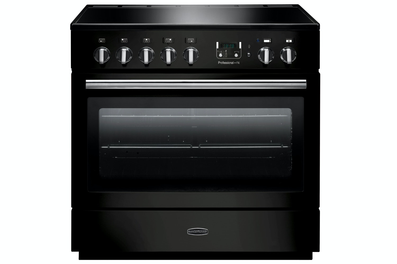 rangemaster pro plus fx 90cm induction range cooker gloss black