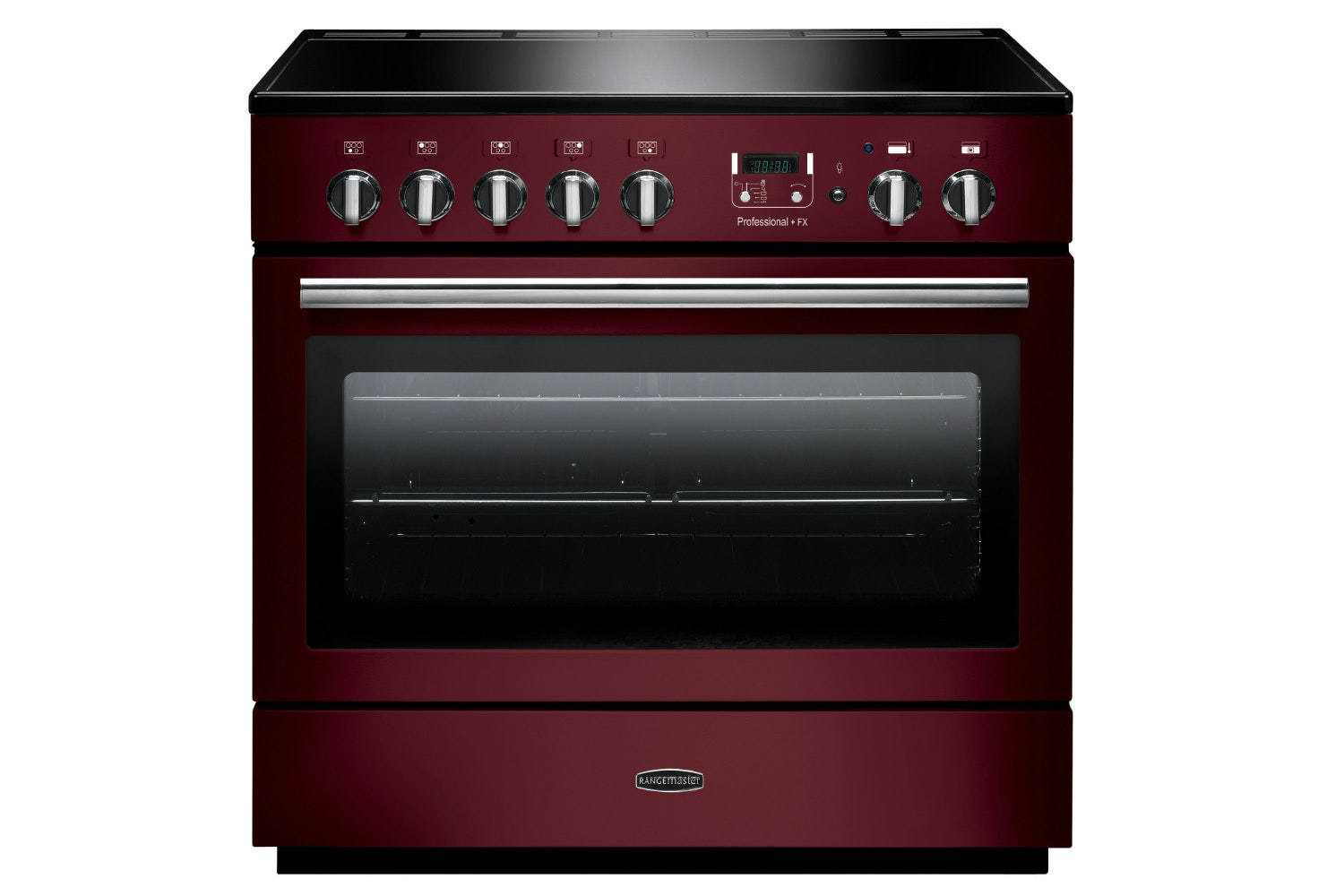 rangemaster pro plus fx 90cm induction range cooker cranberry red