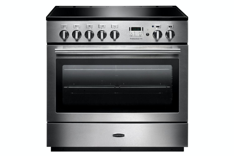 rangemaster pro plus fx 90cm induction range cooker stainless steel