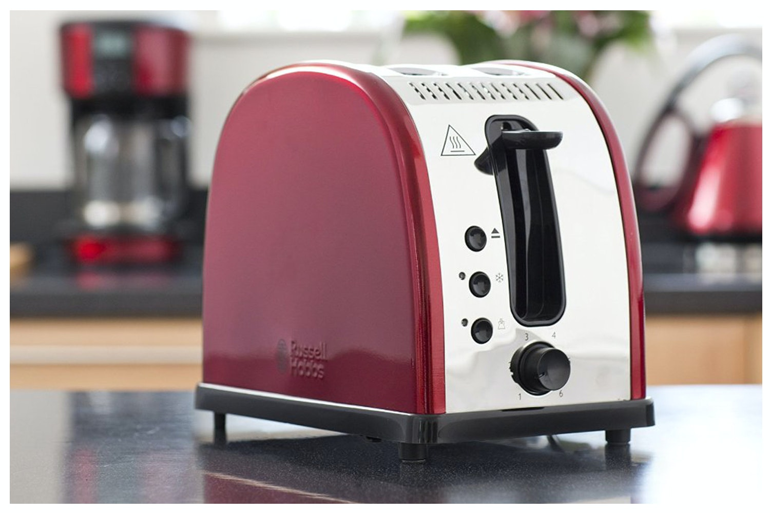Russell Hobbs Legacy Metallic Red 2 Slice Toaster