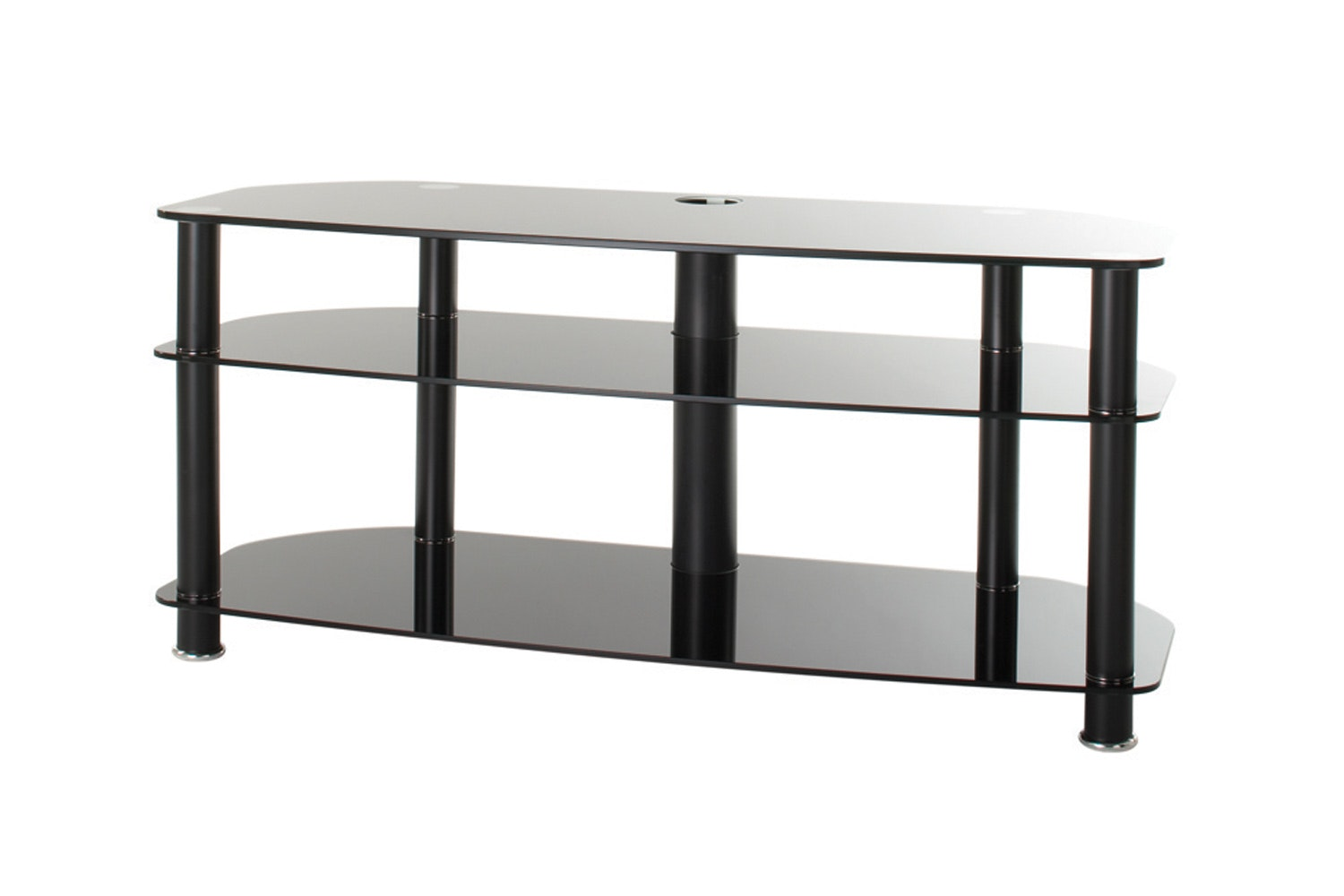 Alphason Sona 3 Tier Glass TV Stand | AVCR503BLK