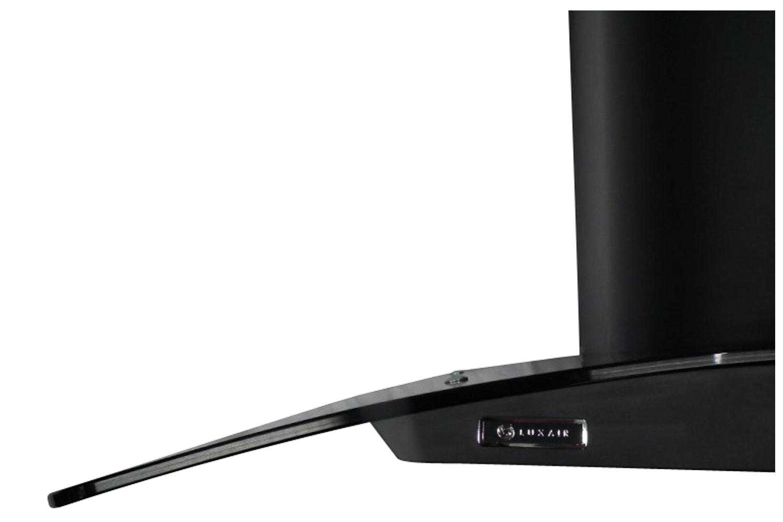 Luxair 110cm Curved Glass Hood | LA110CVDBLK