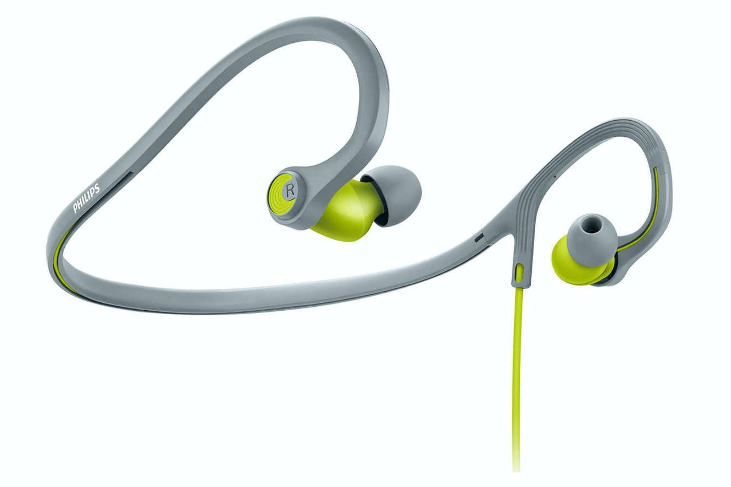 Philips ActionFit Sports Headphones | Lime Yellow/Grey