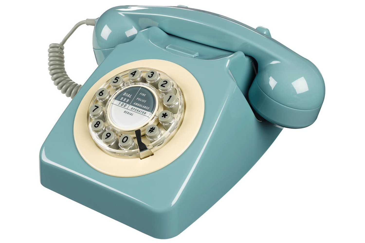 746 French Retro Telephone | Blue