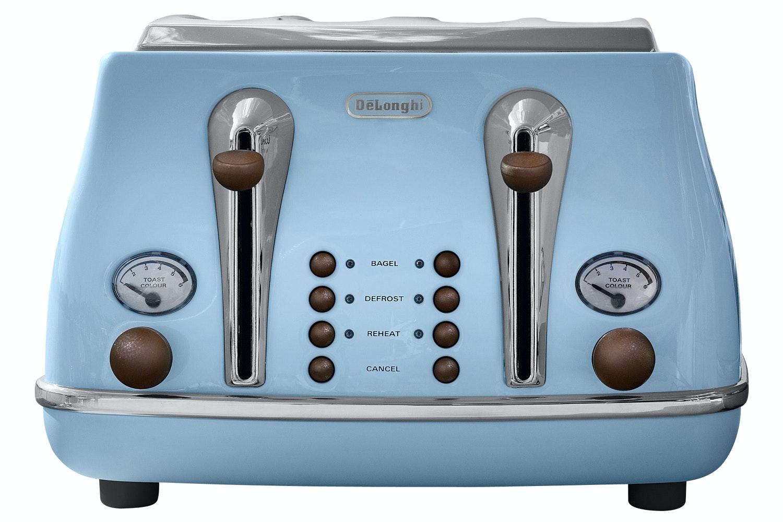 DeLonghi 4 Slice Vintage Toaster | Blue