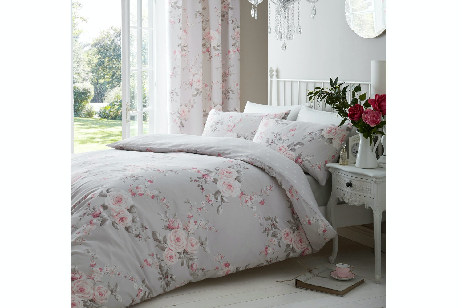Canterbury Grey Double Duvet Set