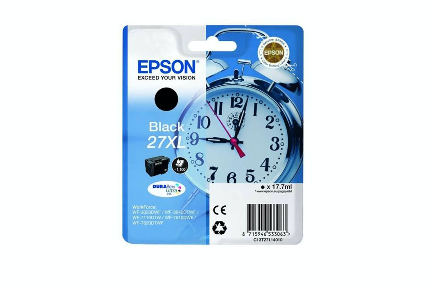 Epson C13 27XL Black Ink | T27114010