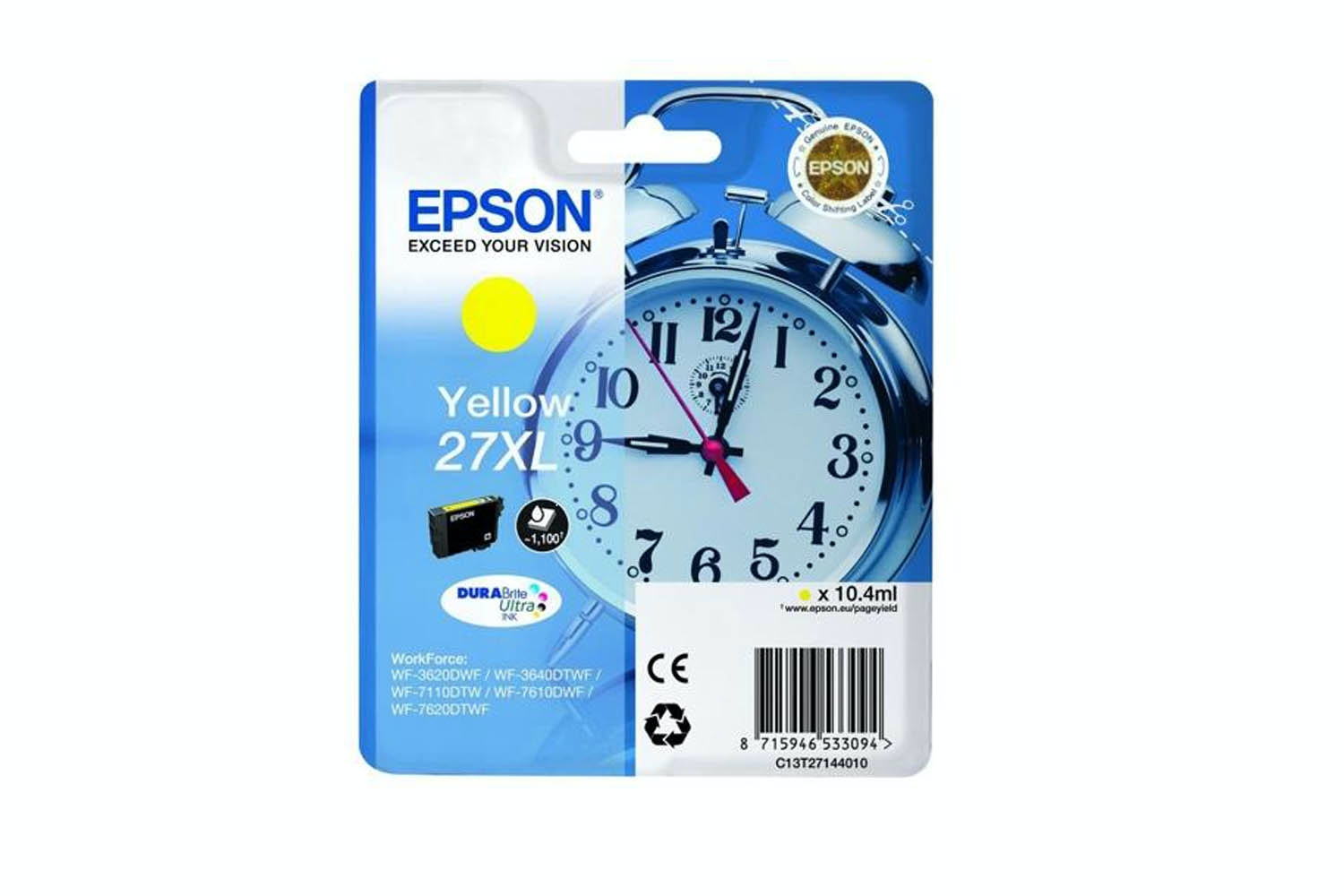 Epson C13 27XL Yellow Ink | T27144010