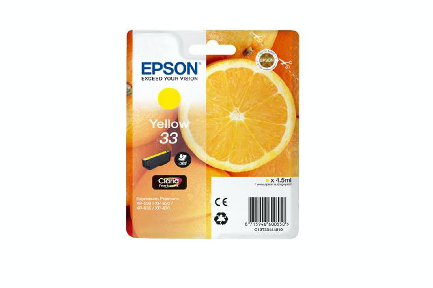 Epson C13 33 Yellow Ink | T33444010