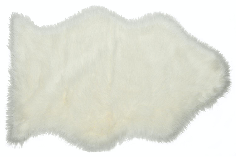 Sheepskin Rug Ivory 60x90cm