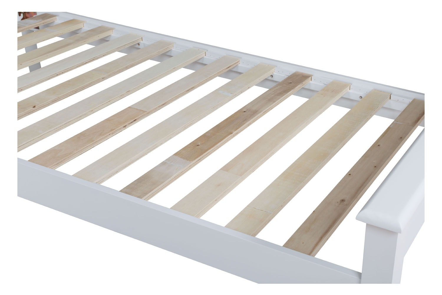 Shaker Single Bed Frame | 3ft | White