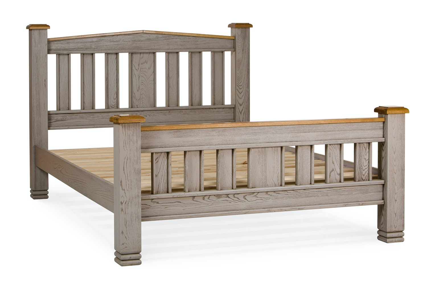 Lancaster Aged Grey Bed Frame | 4ft6