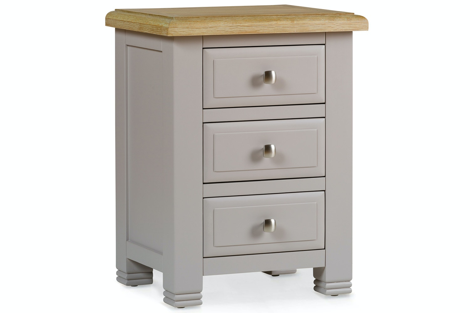 Lancaster 3 Drawer Bedside Locker | Natural Oak