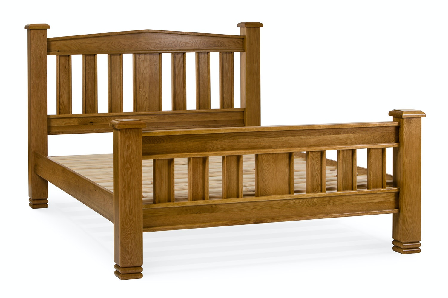 Lancaster Natural Oak Bed Frame | 4ft6