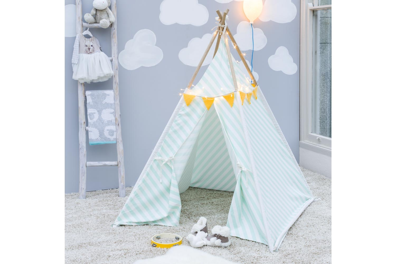 Tipi Tent Natural Stripes