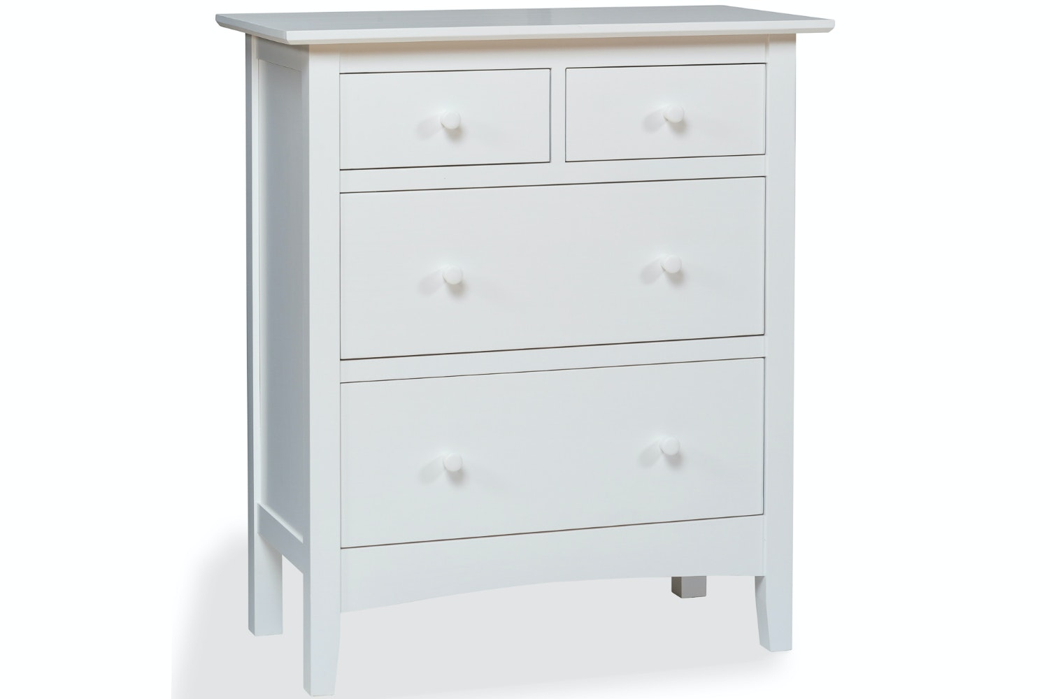 Shaker 2+2 Drawer Chest | White