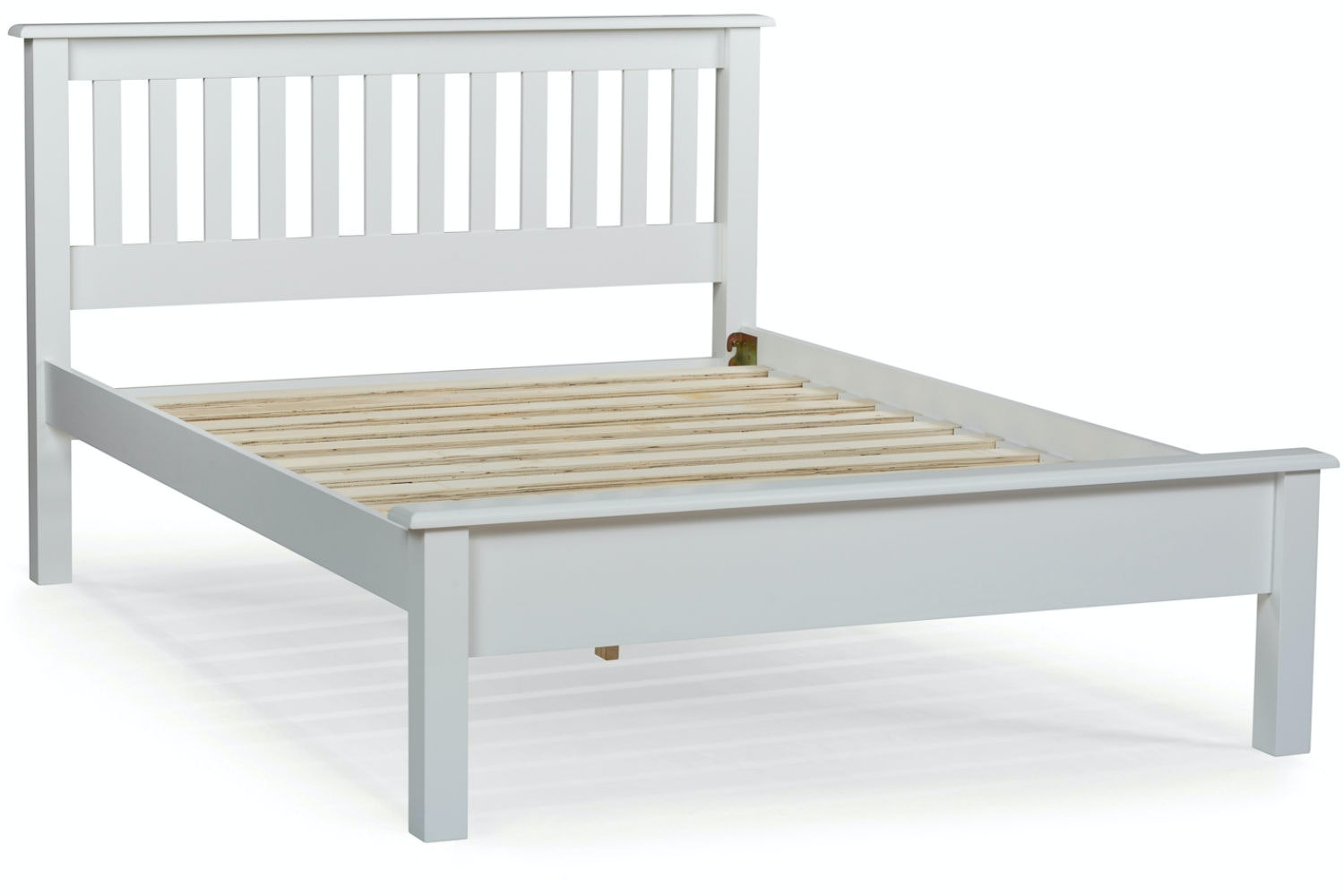 Shaker Double Bed Frame : 4ft6 : White : Ireland