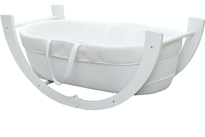 Shnuggle Dreami Moses Basket | White