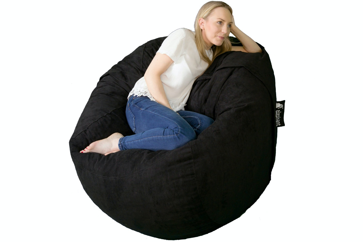 Elephant Kumo Bean Bag | Black