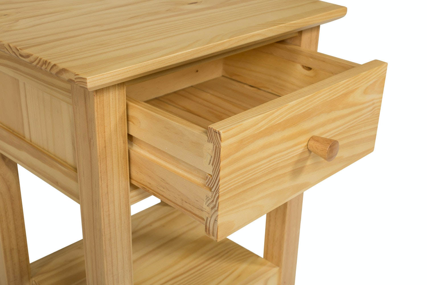 Shaker 1 Drawer Bedside Table | Natural