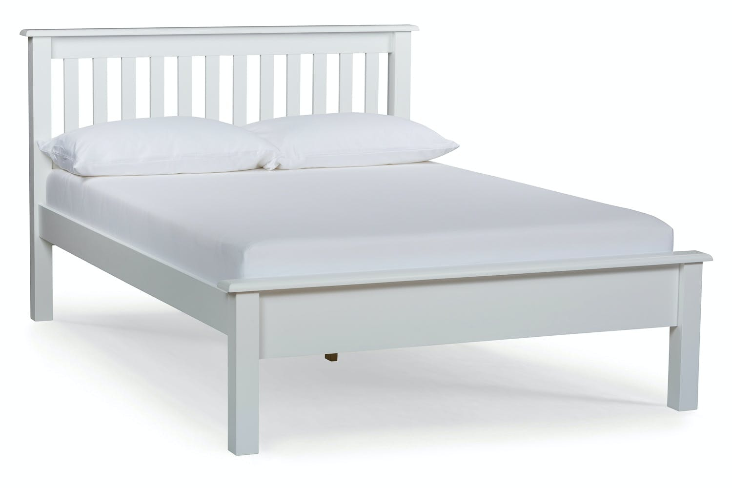 Shaker Small Bed Frame | Double | White | 4ft