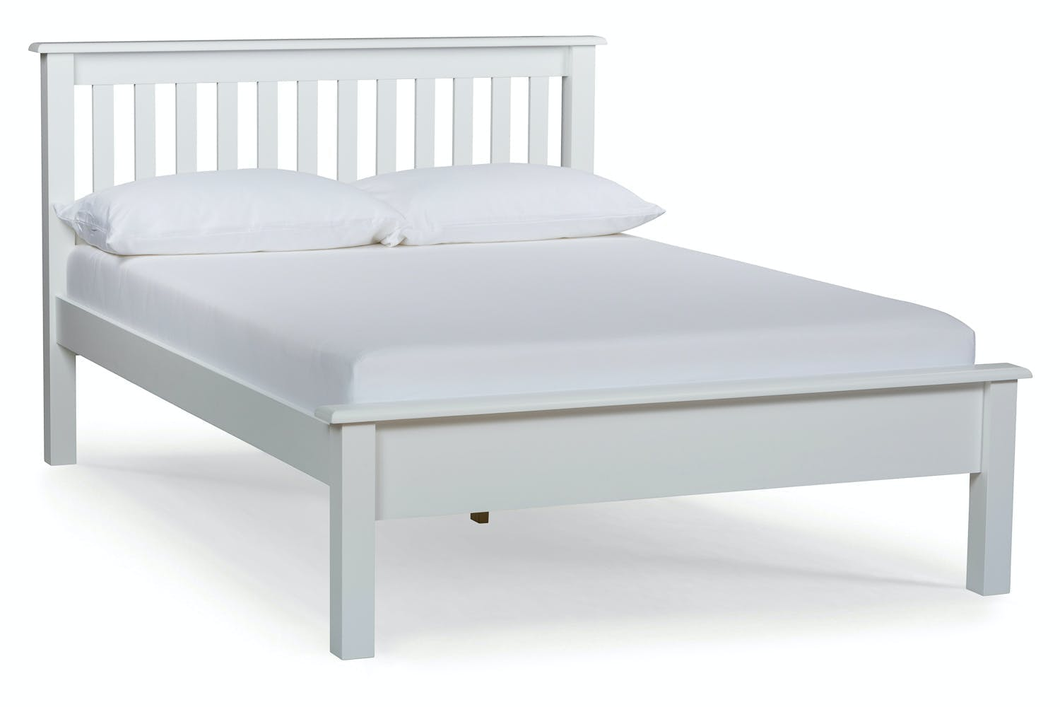 shaker small double bed frame 4ft white ireland. Black Bedroom Furniture Sets. Home Design Ideas