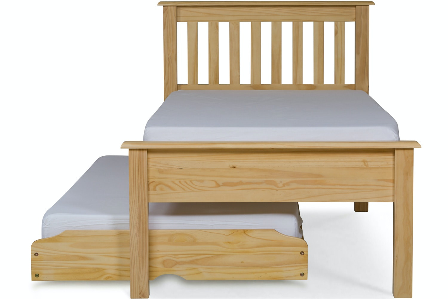 Shaker Trundle Bed | 3ft | Natural