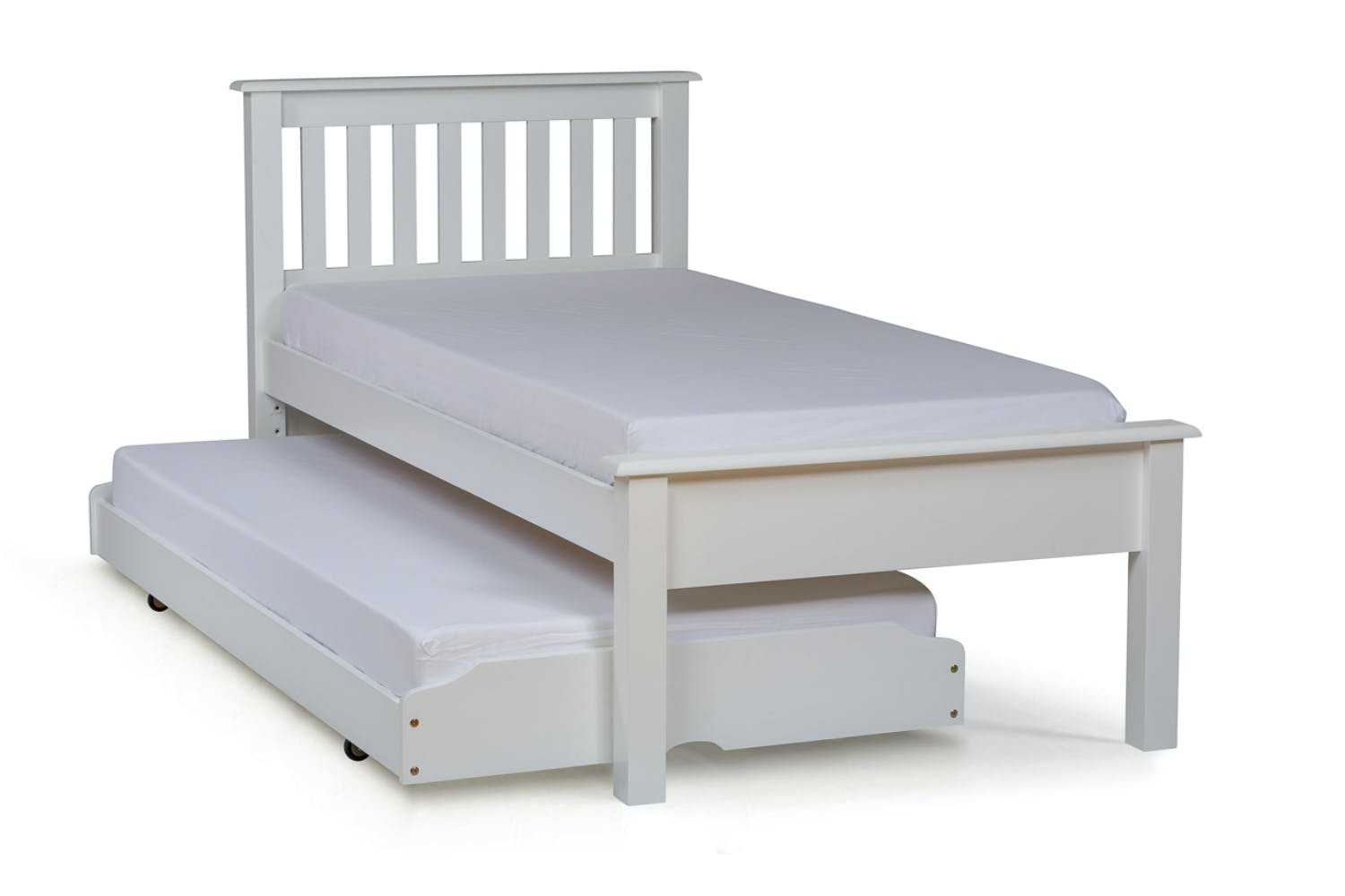 Accessories choose an option under bed drawers trundle bed none -  Shaker Trundle Bed 3ft White