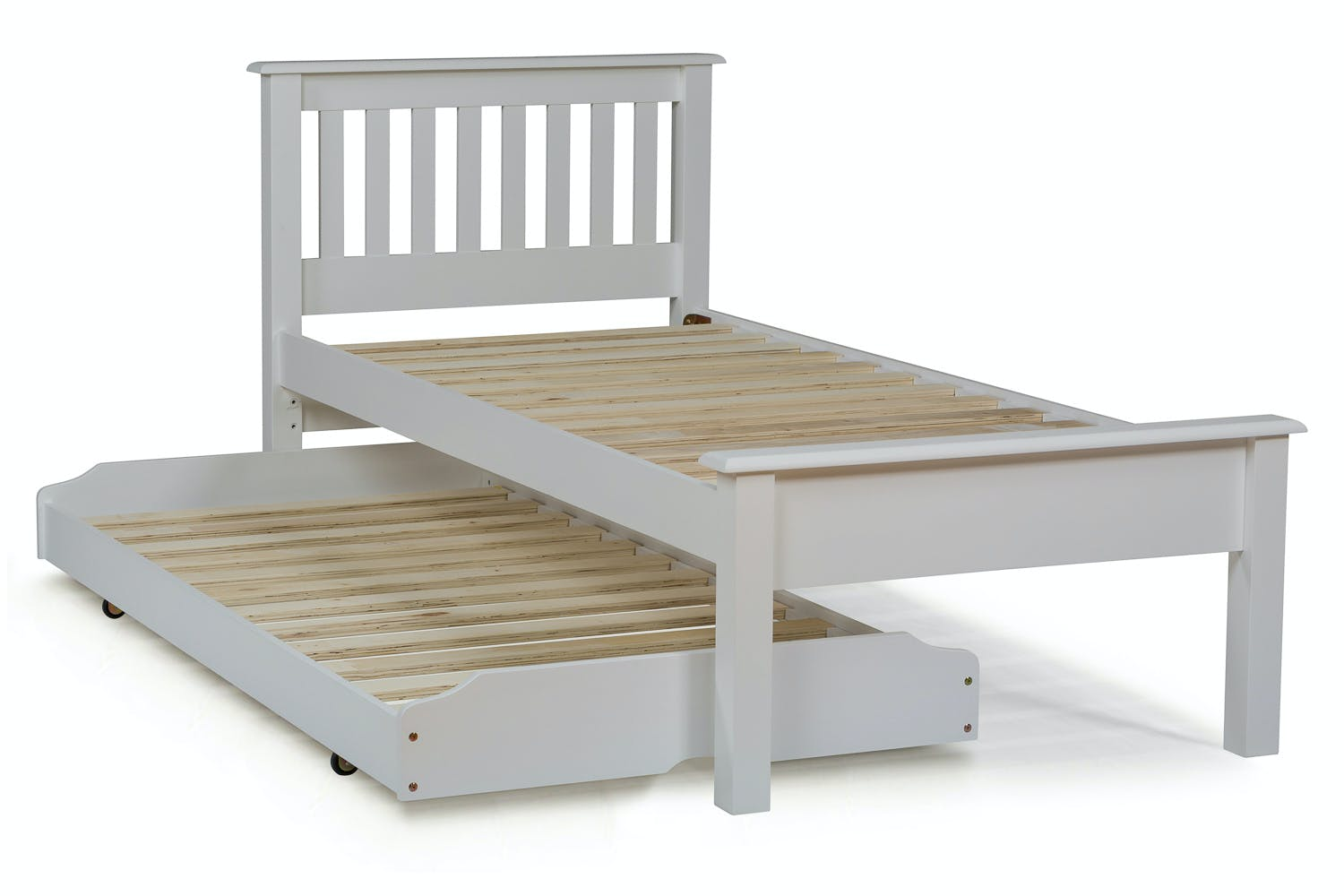 buy online ad3c8 73d22 Shaker Trundle Bed | White | 3ft