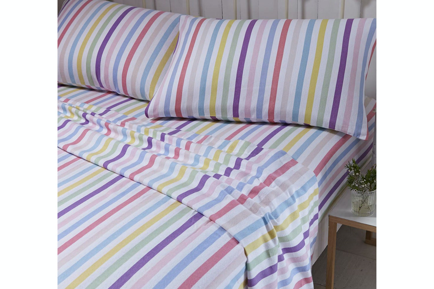 brushed-stripe-sheet-set-double-bed