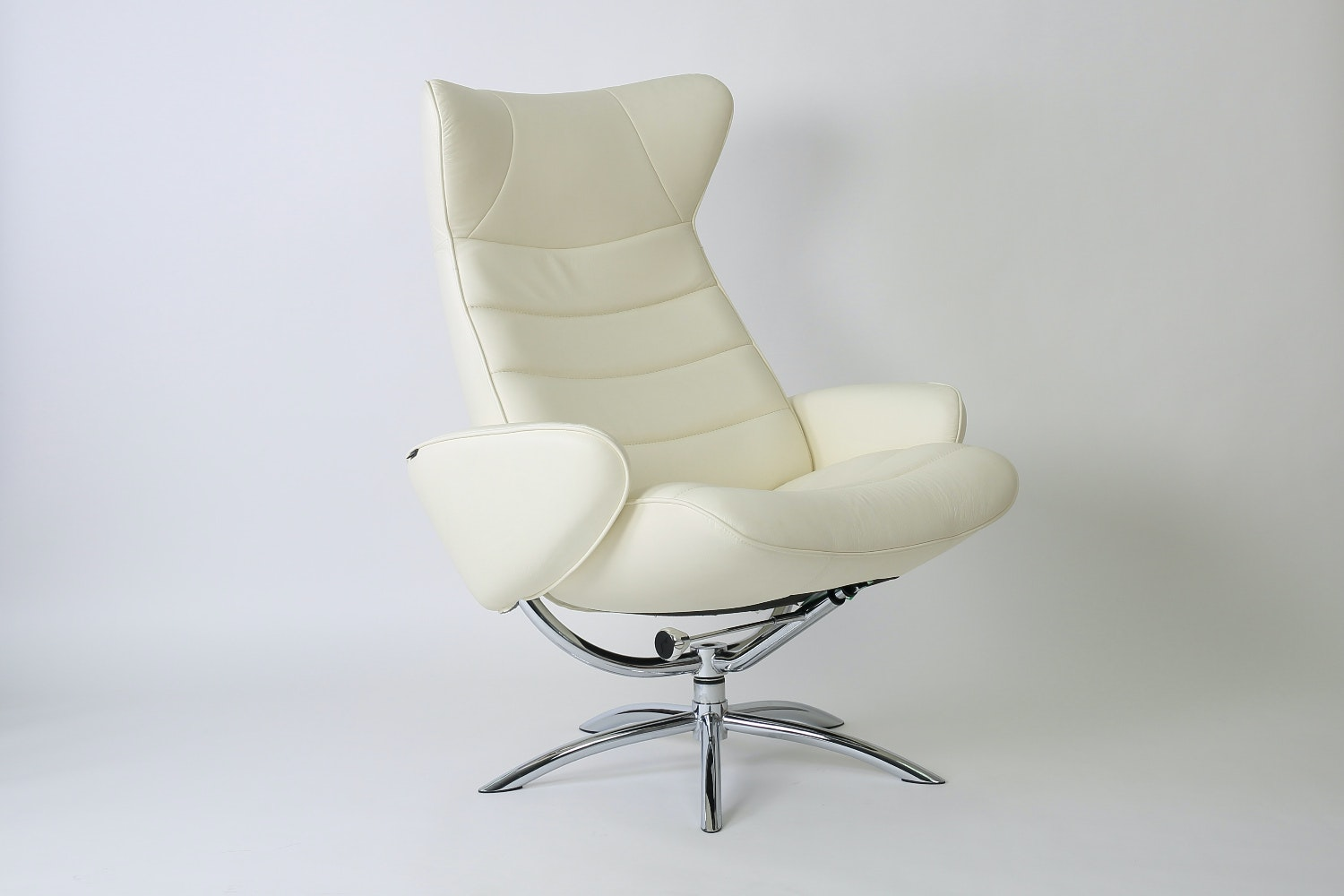 Chelsea Leather Chair and Footstool