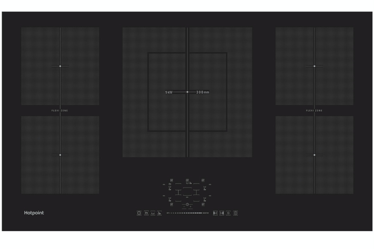 Hotpoint 90cm Induction Hob | CIF952BXLDB