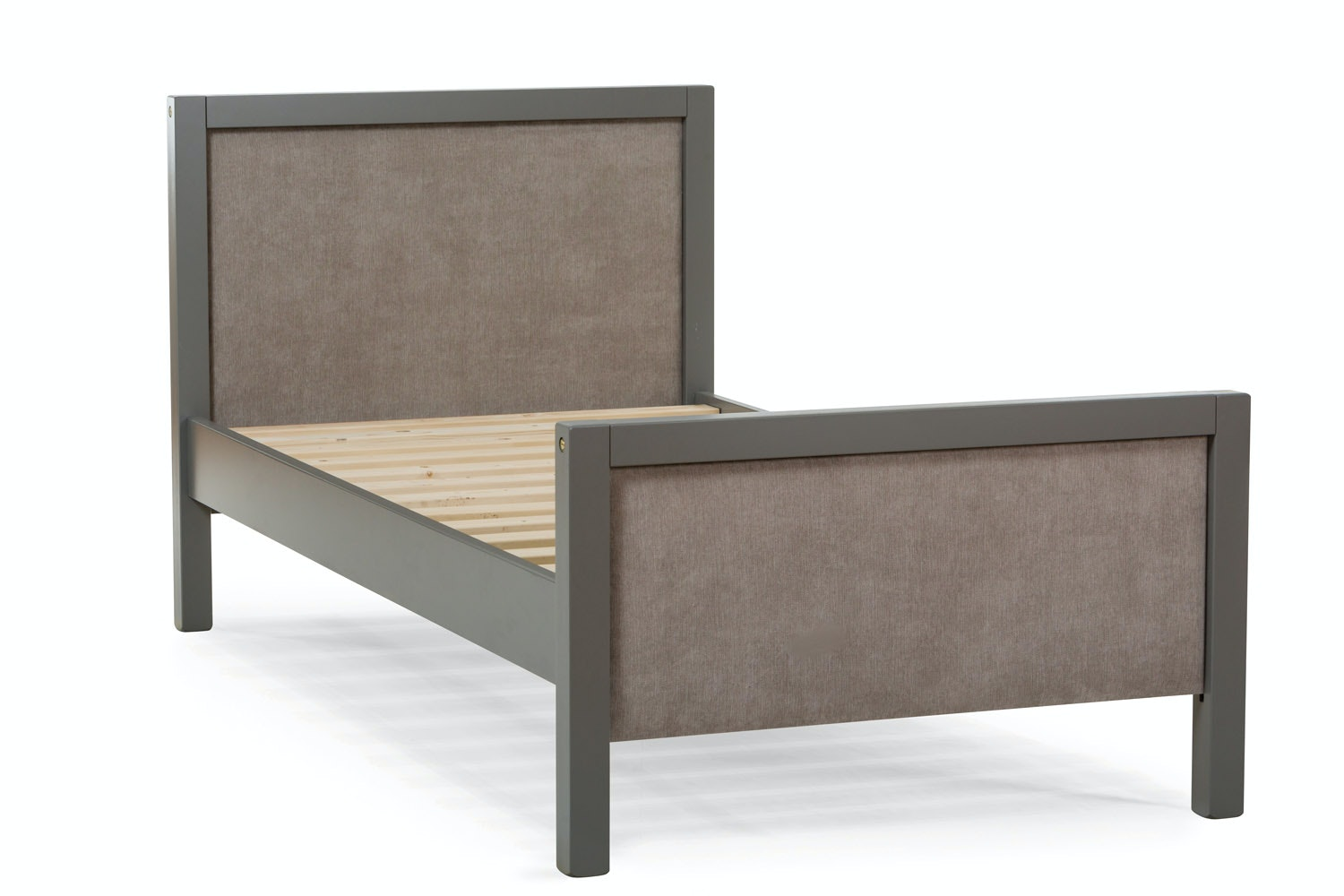 Urban Grey Single Bed | Light Grey Fabric
