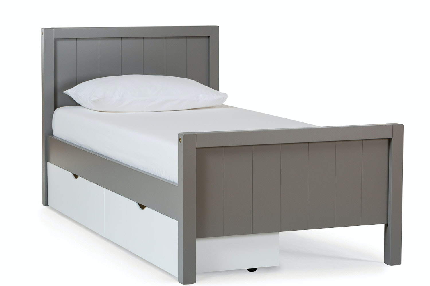 Urban Grey Single Bed | With White Drawer