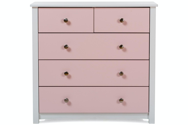 Urban 3+2 White Chest | Pink