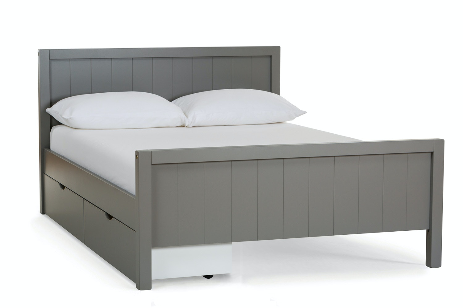 Urban Grey Double Bed | With 2 Grey Drawers
