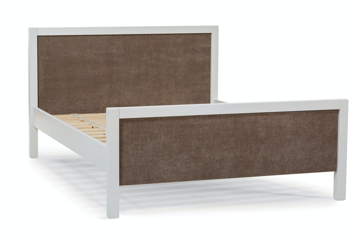 Urban White Small Double Bed | With Taupe Fabric