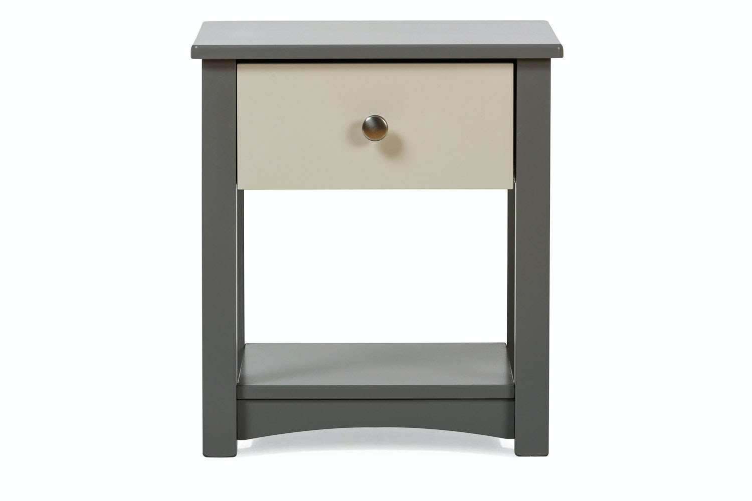 Urban Grey Bedside Locker | Cream Drawer