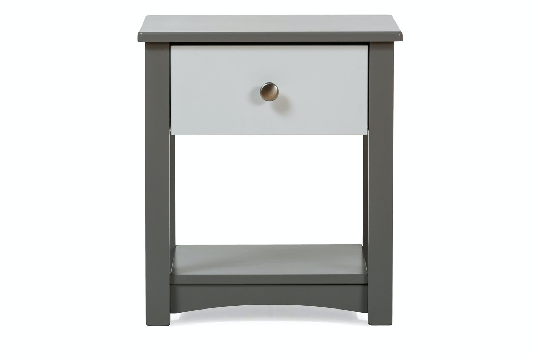 Urban Grey Bedside Locker | White Drawer