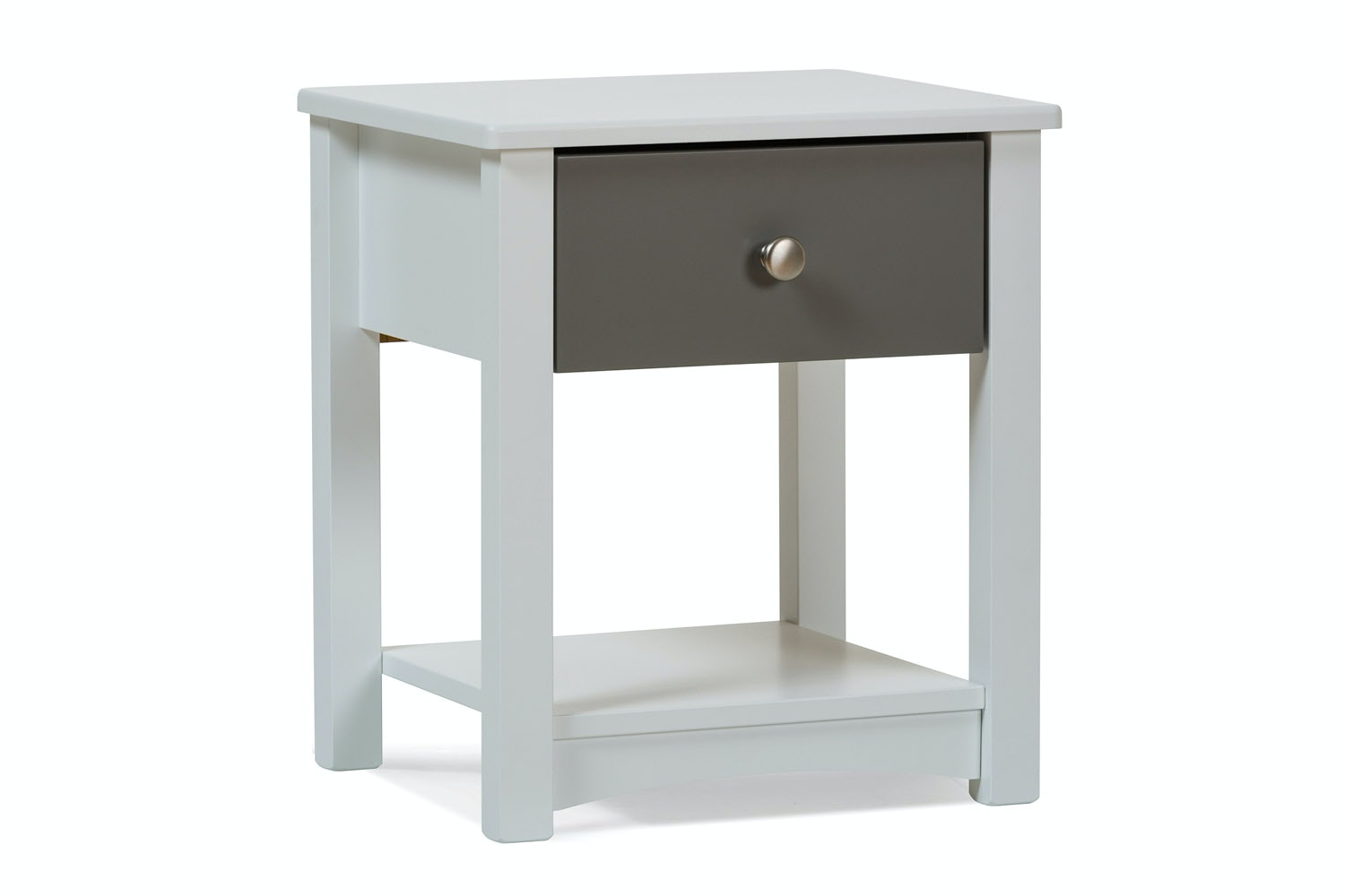 Urban White Bedside Locker | Grey Drawer