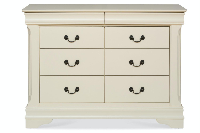 Chardonnay 6 Drawer Dresser | Cream