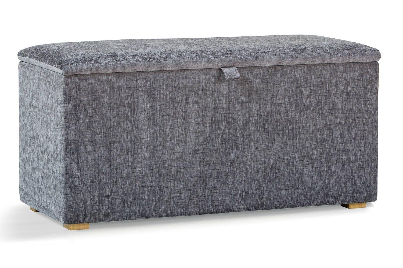 Osbourne Blanket Box   Manhattan Grey