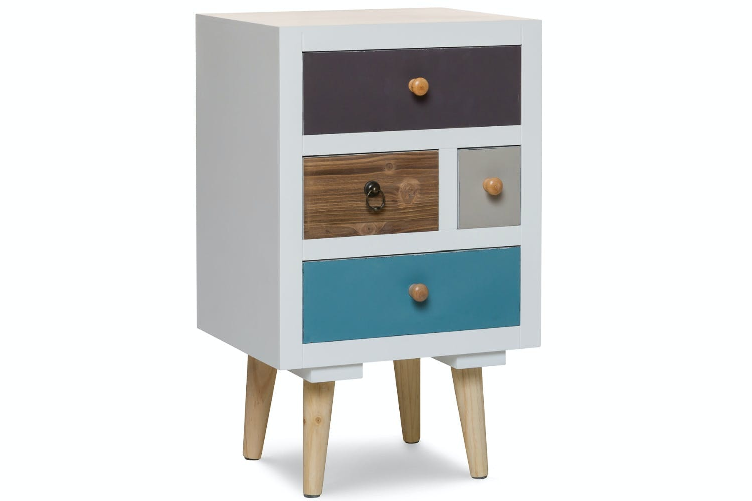 Black Floating Nightstand With Drawer