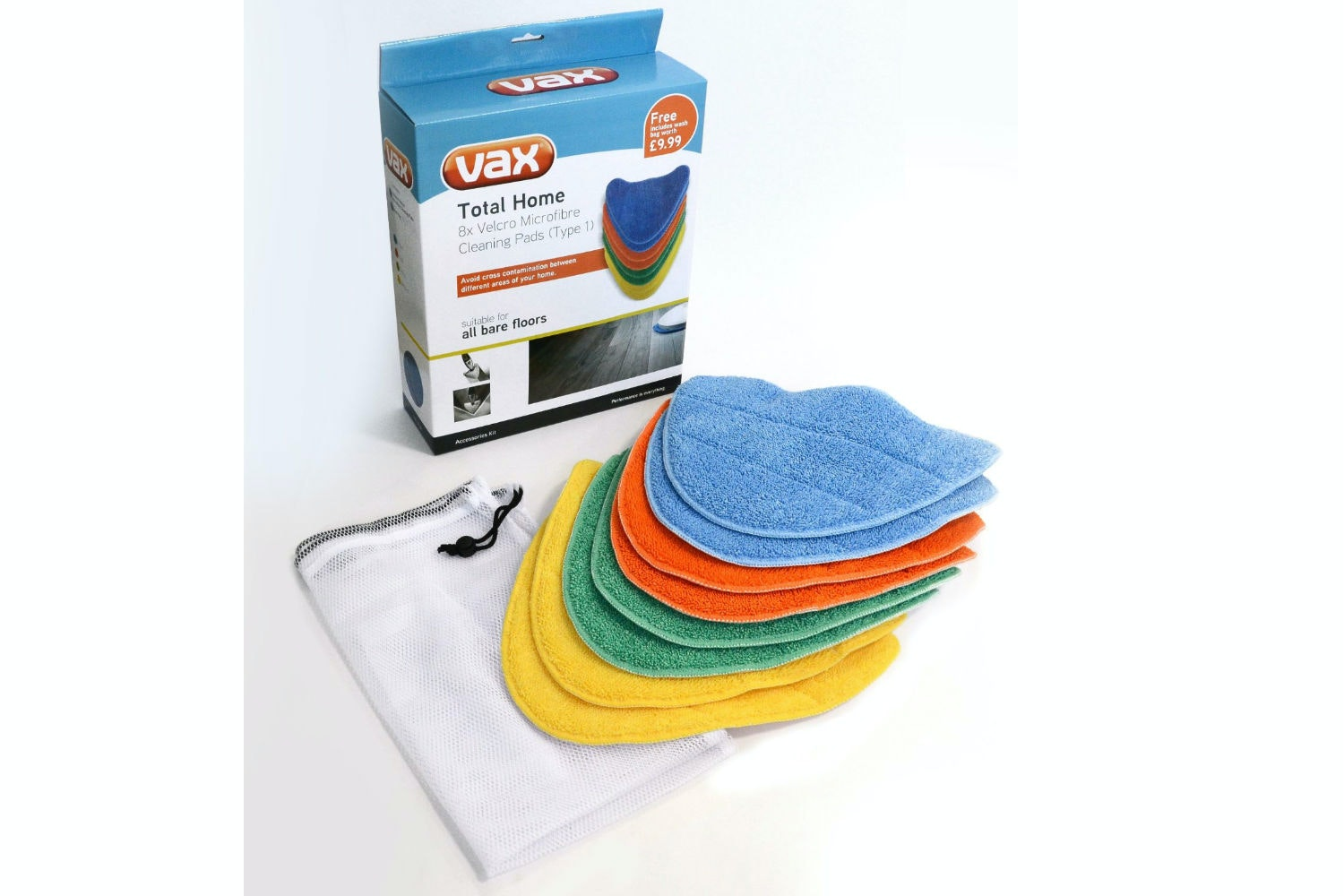 Vax Total Home Microfibre Cleaning Pads