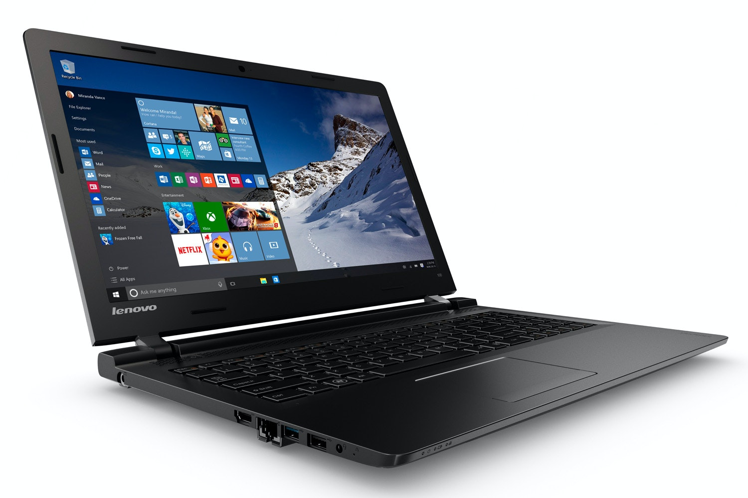 "Lenovo Ideapad 100 15.6"" Notebook 