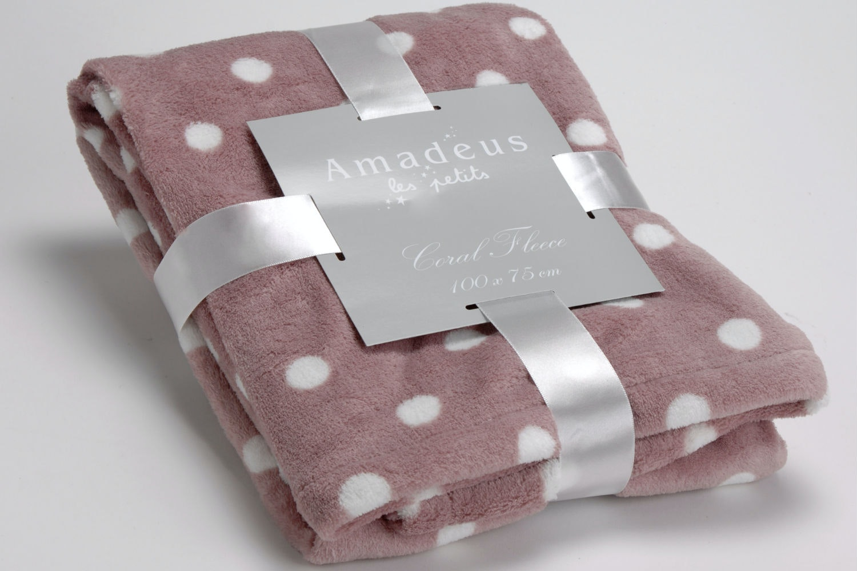 Amadeus Polka Dot Blanket | Pink