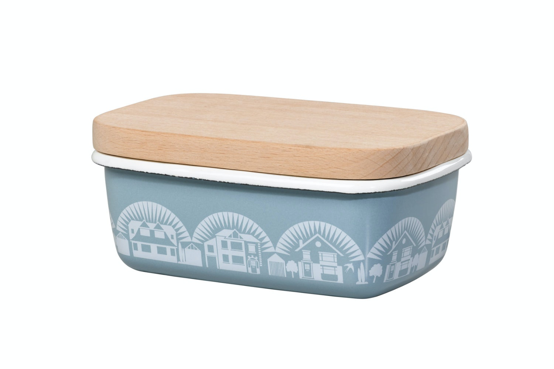 Enamel Butter Dish | Chalkhill Blue