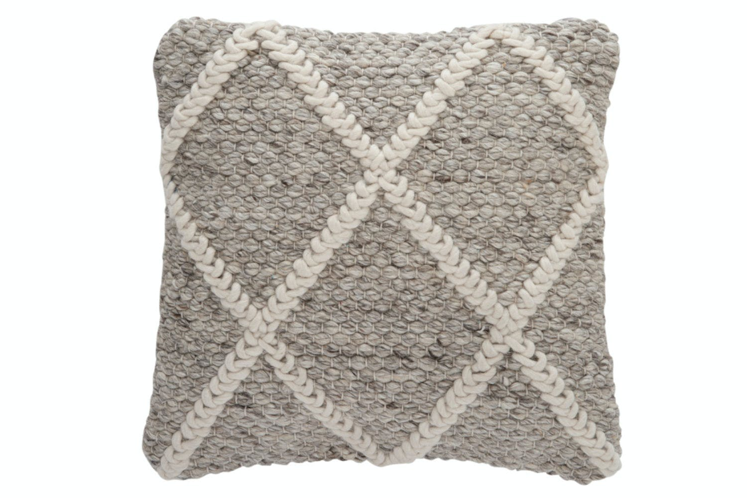 Check Wool Square Cushion