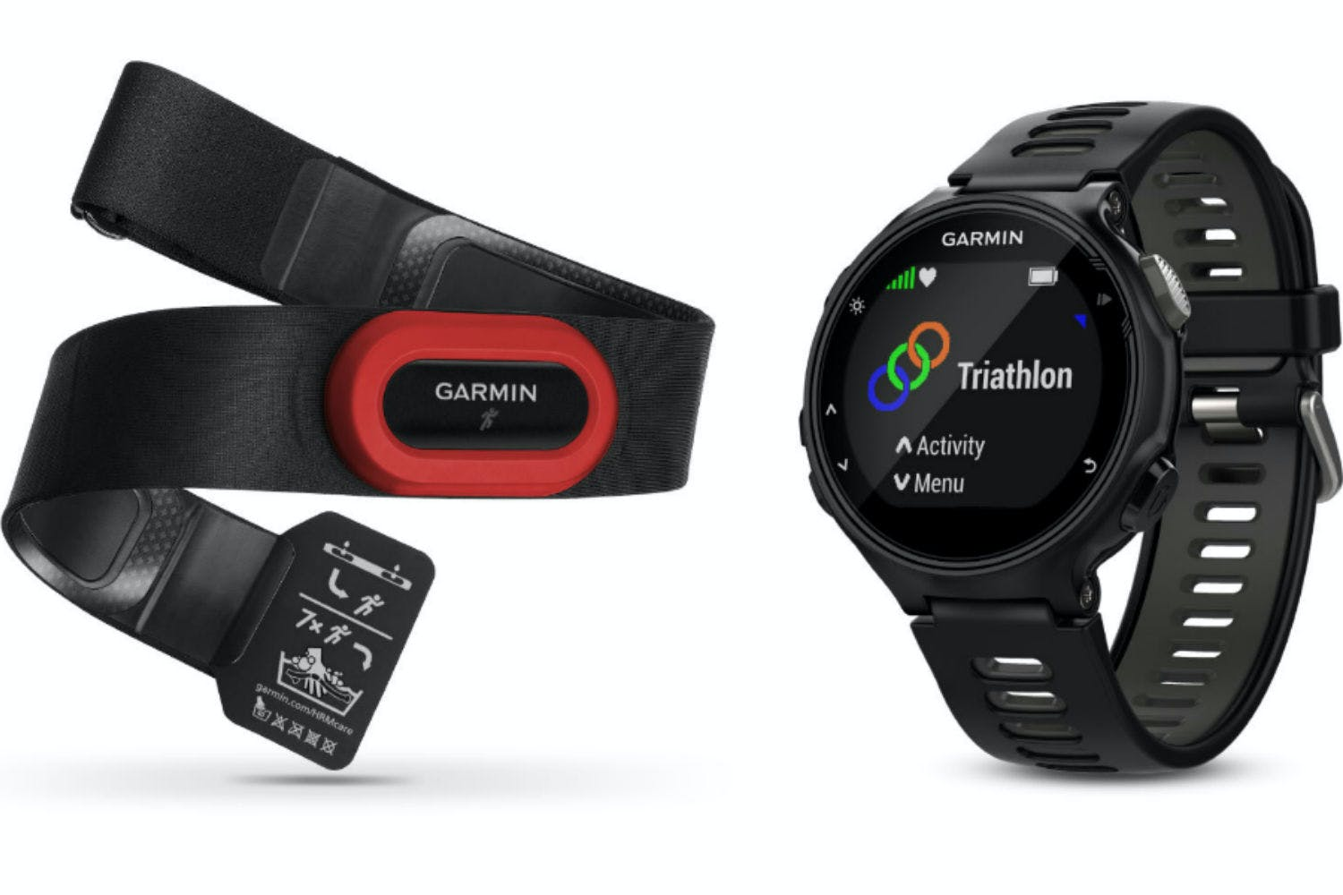Garmin Forerunner 735XT HRM Run Bundle | Black & Grey